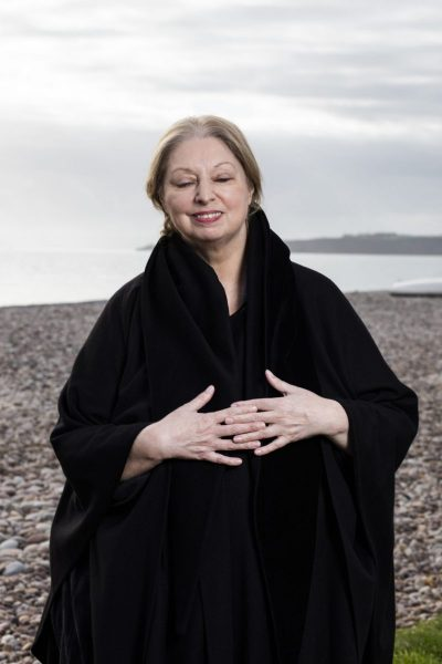 Author Hilary Mantel, Wolf Hall/ Cromwell Trilogy. photographed at her home and on the beach in Buckleigh Salterton, Devon, United Kingdom