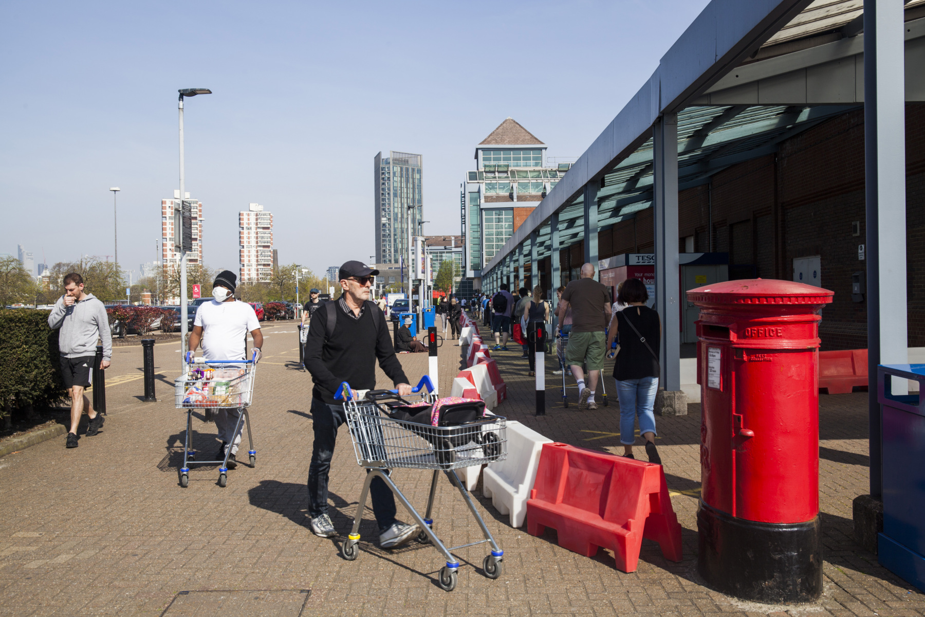 Tesco Supermarket, Surrey Quays, Good Friday, North Rotherhithe, Southwark, London