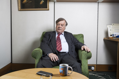 Kenneth Harry Clarke CH QC, often known as Ken Clarke, is a British Conservative politician who has been the Member of Parliament for Rushcliffe since 1970. He is currently the Father of the House. Photographed at Porticullis house, Westminster, London, UK.